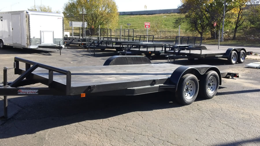 82 X 16 Flatbed Wood Floor Car Hauler Discount Trailer And Parts